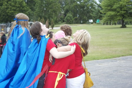 July Weather is unpredictable in Michigan - huddle time for warmth!