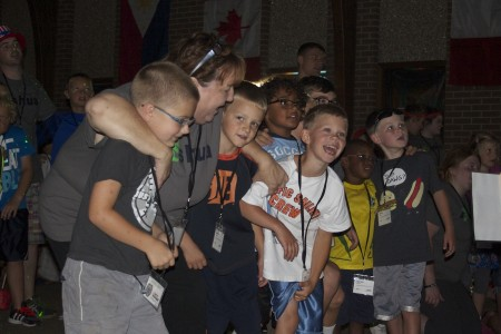 Our first grade boys are all smiles when the music gets them going!