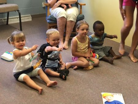 Our nursery kids are thrilled to have some visitors!