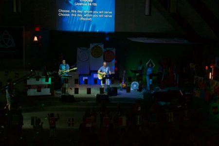 Singing, dancing, worshiping together!